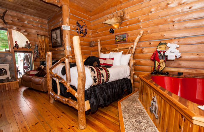 Adventure Suites Boutique Hotel North Conway New Hampshire Lodging Log Cabin